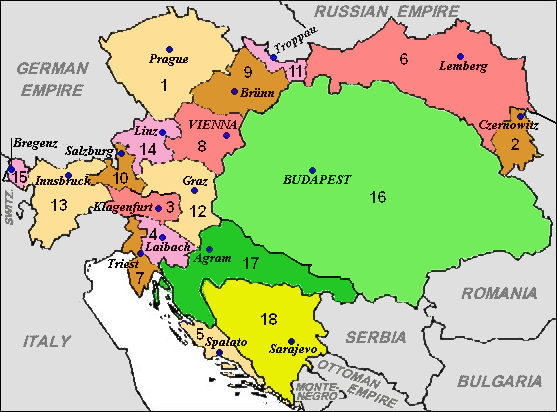 Austria-Hungary in 1900